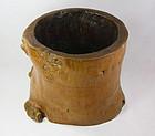 China Old brushpot naturalistic shape rare design