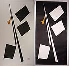 Japan 1976 Haku Maki 76-16 76-17 (Mind-A n B)