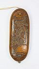 china old eye glass case boxwood  100 years