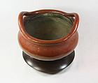 china republican pottery shiwan incense burner