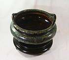 china  old incense burner shiwan