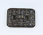 china old zitan clasp  dragon and clouds qing