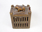 china old cricket cage boxwood wood