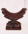 china old mirror stand ox head