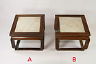 china old  display stands rosewood and marble
