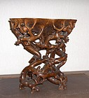 china wood carving  root stand  republican