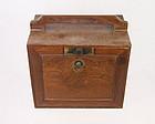 china scholar box chicken wing wood 19th