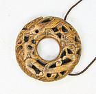 china toggle  prayer wheel two dragons