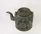 china old Yixing teapot Mark Pewter