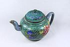 china yixing green teapot  republican beauiful
