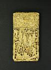 """china """"bone"""" calling card case Republican carved"""