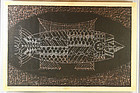 japan cooelaccanh fossil print  1963 unknown artist