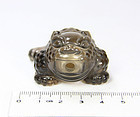 china old glass frog toggle desk ornament