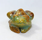 china stone qing frog desk ornament  qing