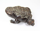 china old frog  desk ornament