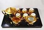 japan  porcelain  Noritake dessert   set gold