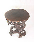 china old display stand  root carving