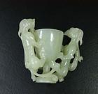 China old jade cup