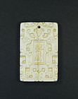 china old ivory plaqUE