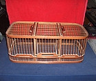 china old bamboo cage  for training singing bird