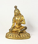 China  early republican gilt buddha