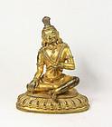 China  early republican gilt buddha