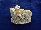 china old ivory  Mountain  brush rest