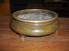 china old bronze incense burner