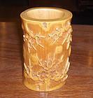 "china ""bone�  brushpot carving"
