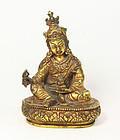 china qing  gild buddha