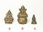 china old bronze gild buddha satue  19 th