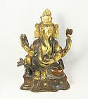 china Qing gilt buddha as elephant  circa 1890 rare