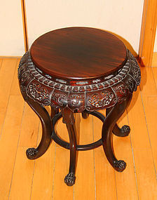 China Old rosewood round table  buddhist signs