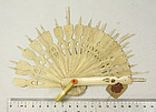 china old ivory fan ribs  early 20th shan  gu