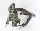 china big bronze snarling dragon