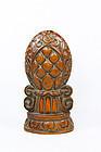 hina Old wooden  lotus Ornament Desk