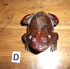 china  old gold wash toggle  frog