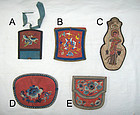china silk purses 5  early  20th c