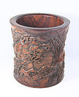 china   brushpot large  scenery