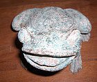 china  old bronze  frog
