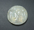 chinai oild Ming  jade medallion 22