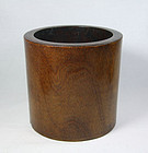 china  wood brushpot  qing 22