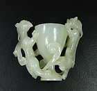 china old jade cup