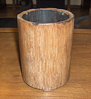 china bamboo brshpot old