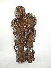 China Antique Root Carving Liu Hai & Golden Frog