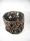 China Antique Brushpot  Wood 1-of-a-kind