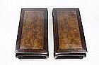 China Antique Zitan Pair Stands scholar 18th C.