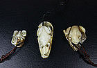 China Antique Jade Toggles Frogs