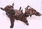 China Early Qing Root Carving Qilin (Kirin)