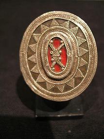 a  big khazakh silver ring